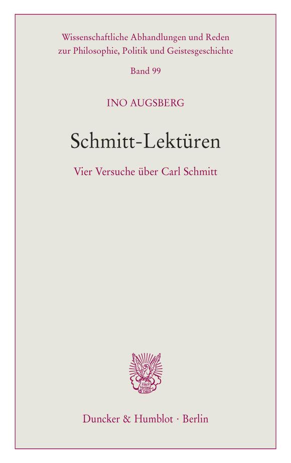 Cover Schmitt-Lektüren