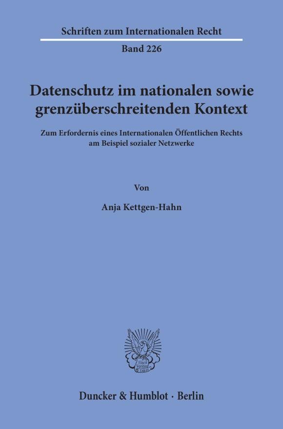 Cover Datenschutz im nationalen sowie grenzüberschreitenden Kontext