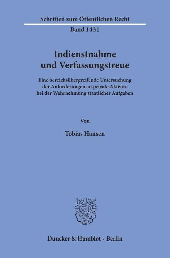 Cover Indienstnahme und Verfassungstreue