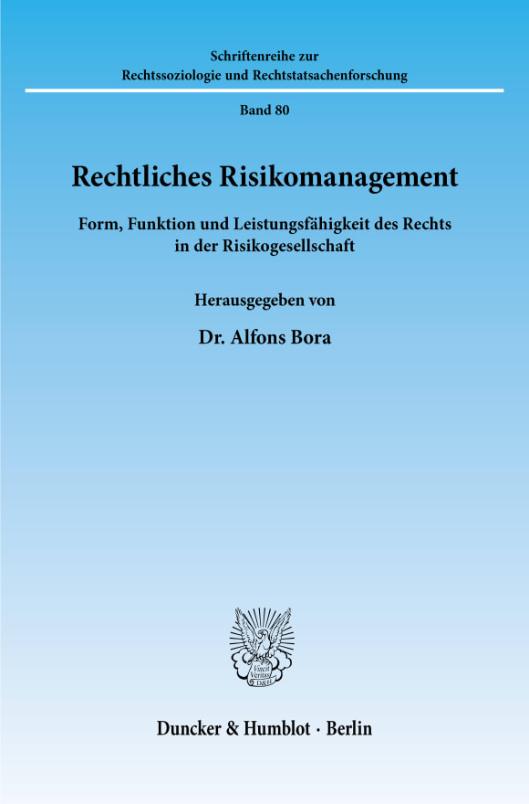 Cover Rechtliches Risikomanagement