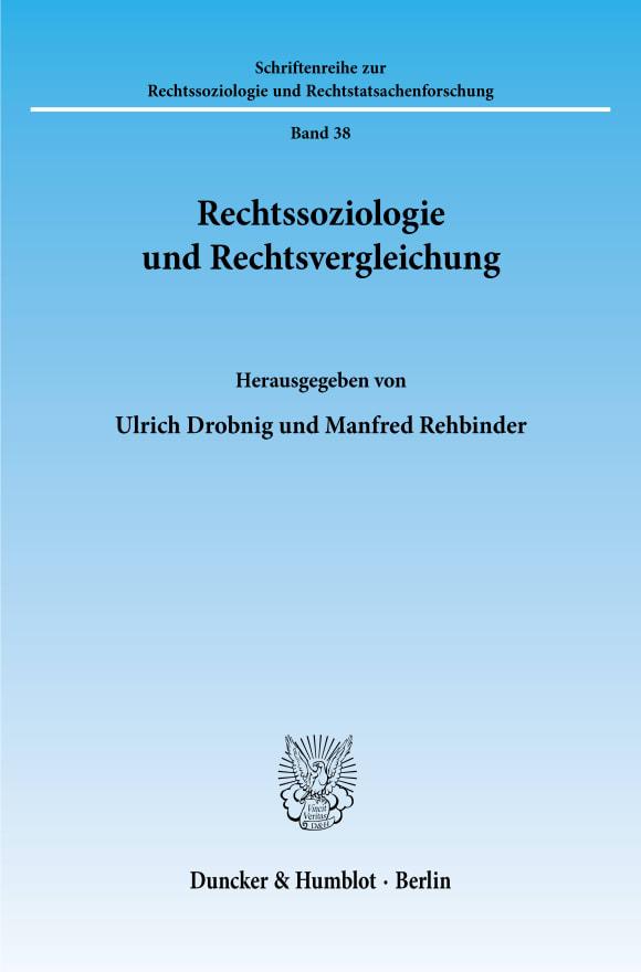 Cover Rechtssoziologie und Rechtsvergleichung