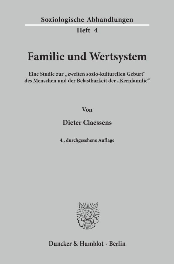 Cover Familie und Wertsystem