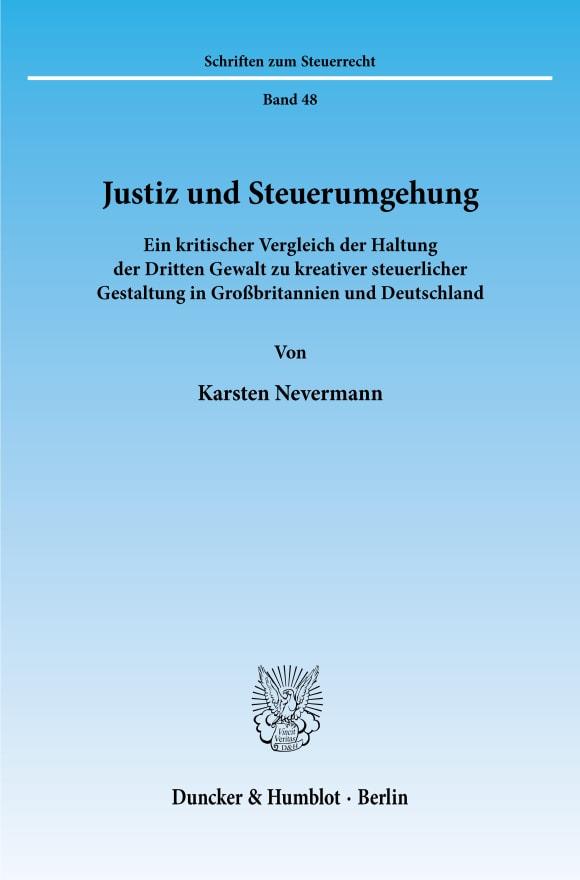 Cover Justiz und Steuerumgehung