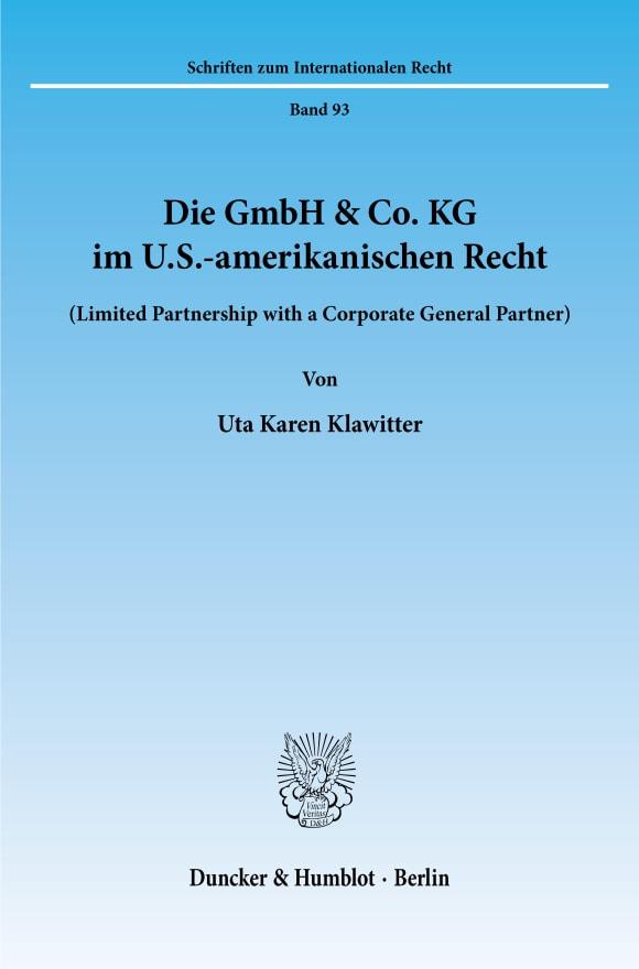 Cover Die GmbH & Co. KG im U.S.-amerikanischen Recht