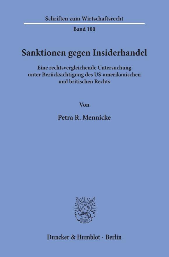 Cover Sanktionen gegen Insiderhandel