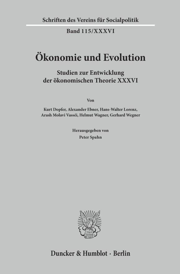 Cover Ökonomie und Evolution