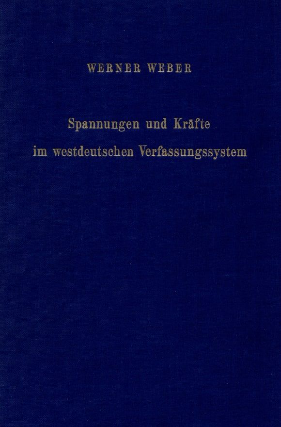 Cover Spannungen und Kräfte im westdeutschen Verfassungssystem