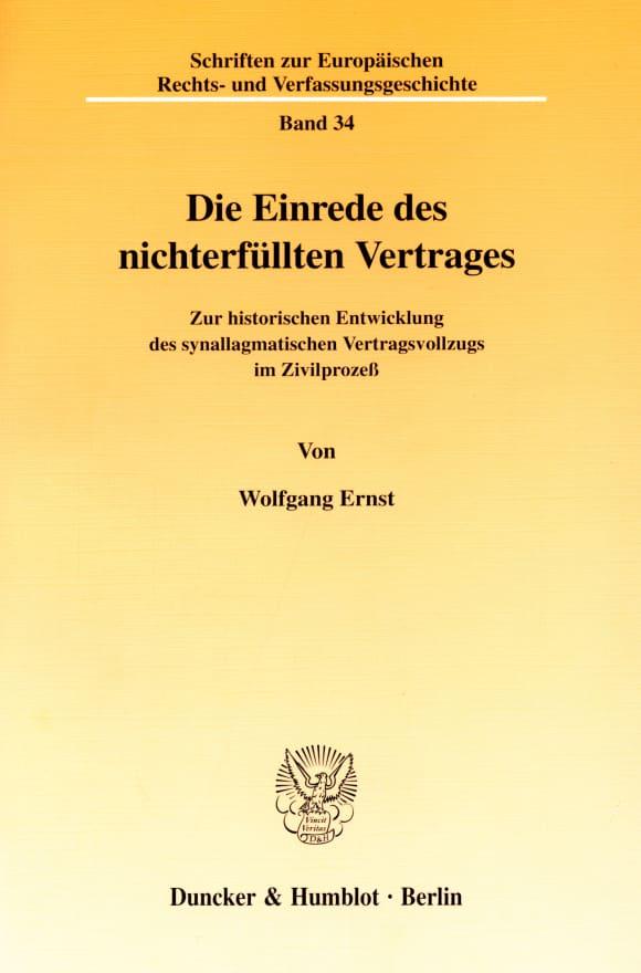 Cover Die Einrede des nichterfüllten Vertrages