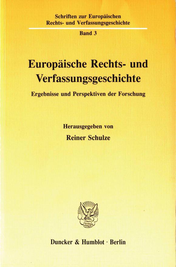 Cover Europäische Rechts- und Verfassungsgeschichte