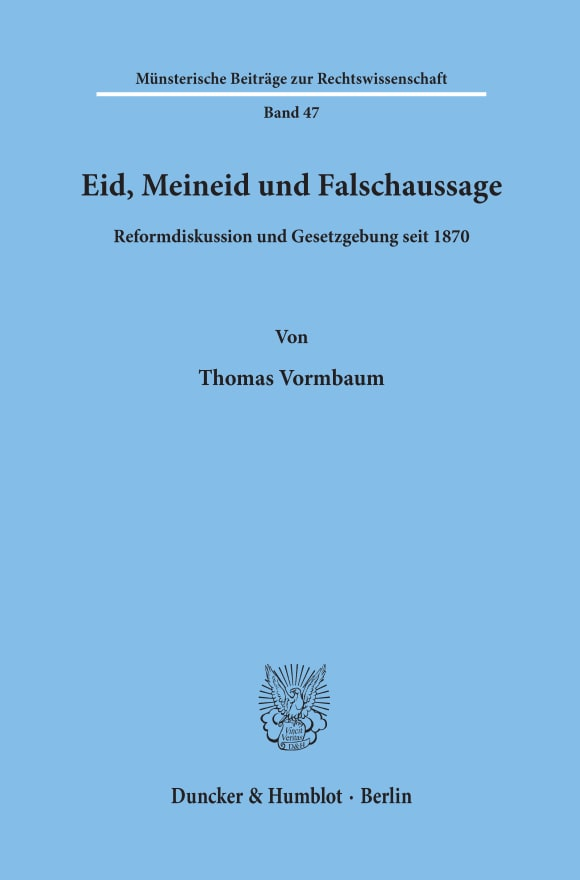 Cover Eid, Meineid und Falschaussage