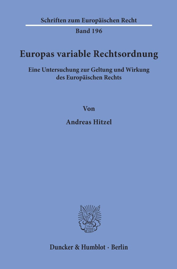 Cover Europas variable Rechtsordnung