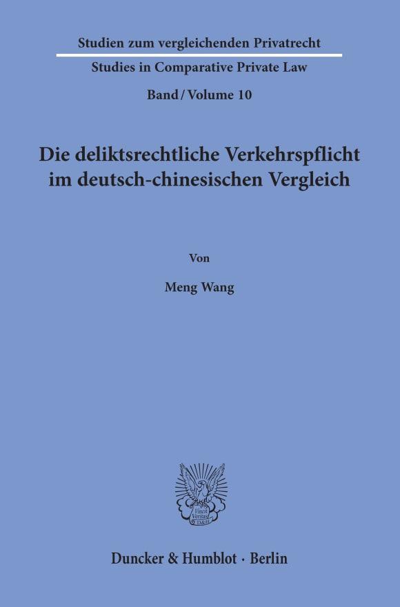 Cover Studien zum vergleichenden Privatrecht / Studies in Comparative Private Law (SVP)