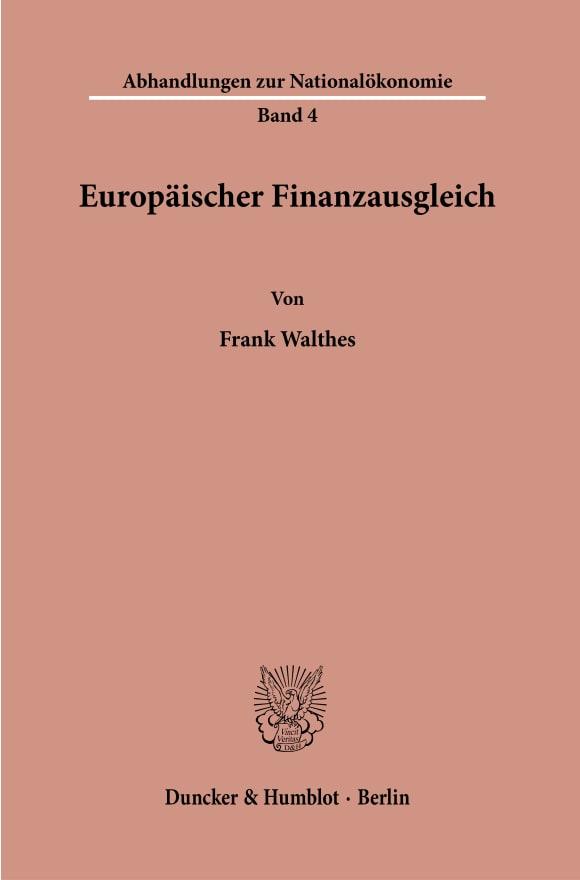 Cover Europäischer Finanzausgleich