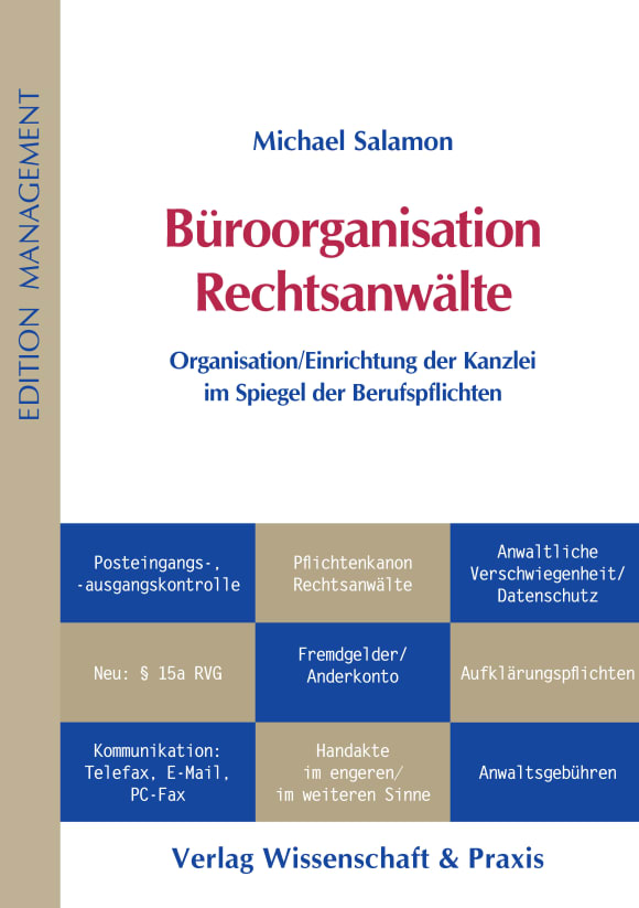 Cover Büroorganisation Rechtsanwälte