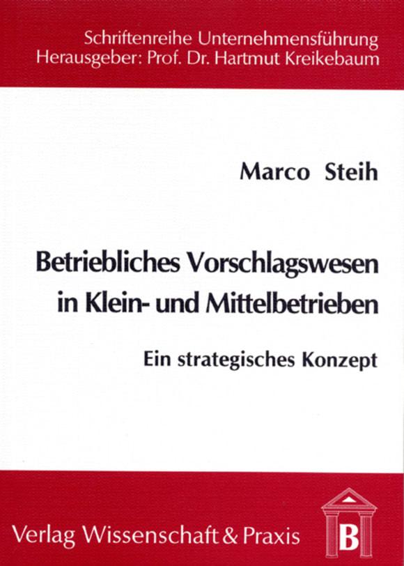 Cover Betriebliches Vorschlagswesen in Klein- und Mittelbetrieben