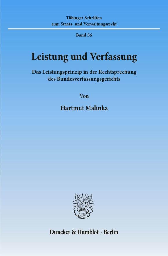 Cover Leistung und Verfassung