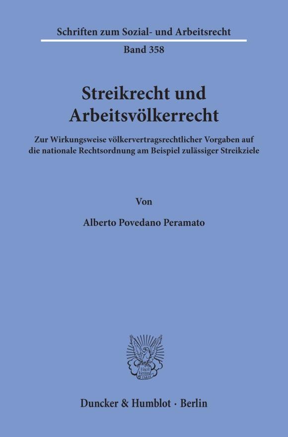Cover Streikrecht und Arbeitsvölkerrecht