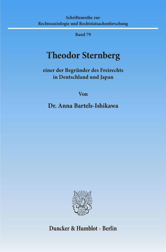 Cover Theodor Sternberg –