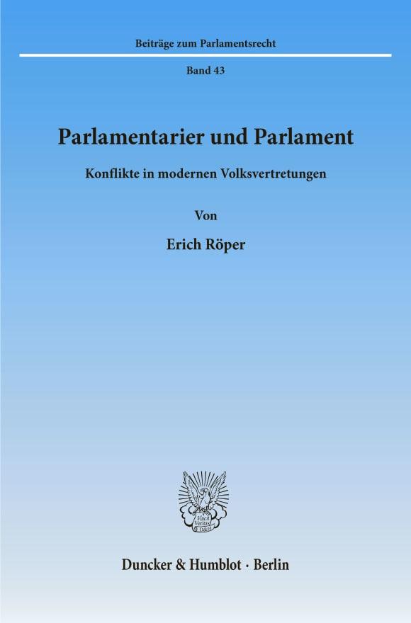 Cover Parlamentarier und Parlament