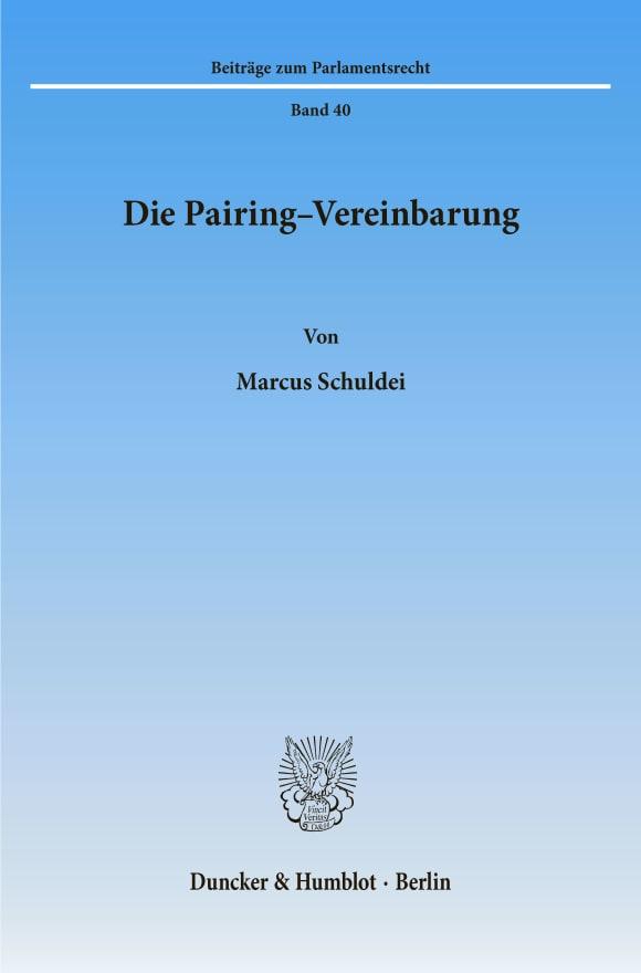 Cover Die Pairing-Vereinbarung