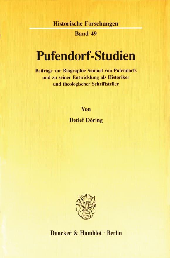Cover Pufendorf-Studien