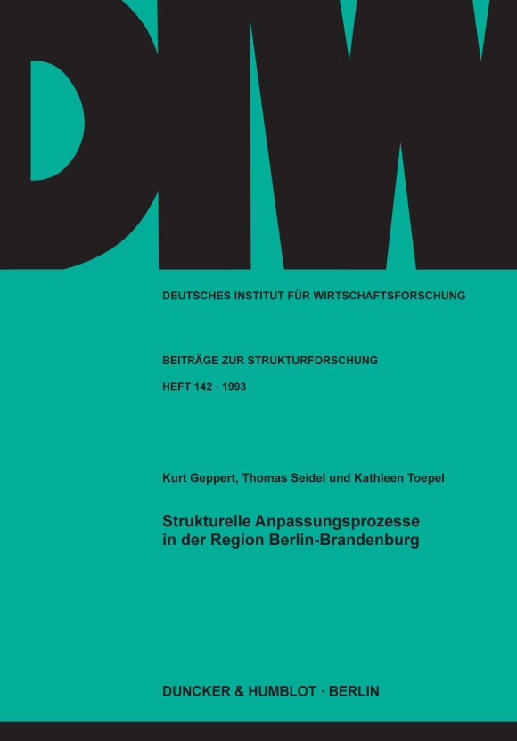 Cover Strukturelle Anpassungsprozesse in der Region Berlin-Brandenburg