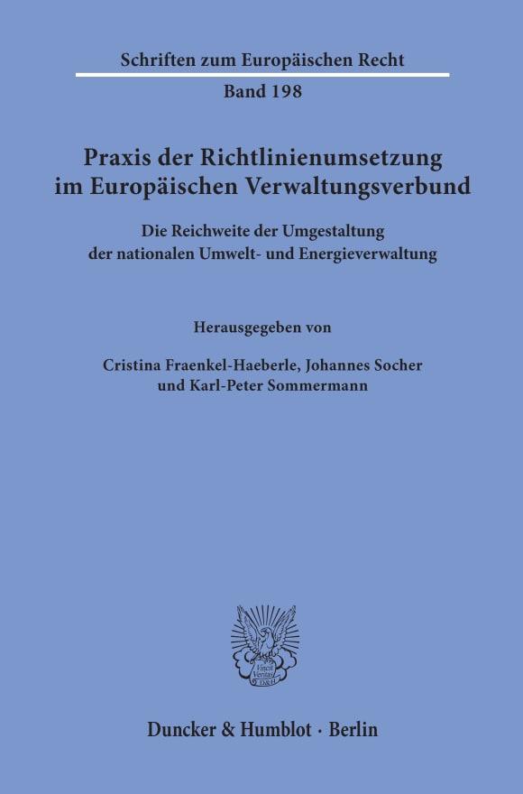 Cover Praxis der Richtlinienumsetzung im Europäischen Verwaltungsverbund