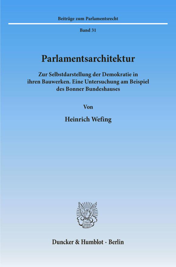 Cover Parlamentsarchitektur