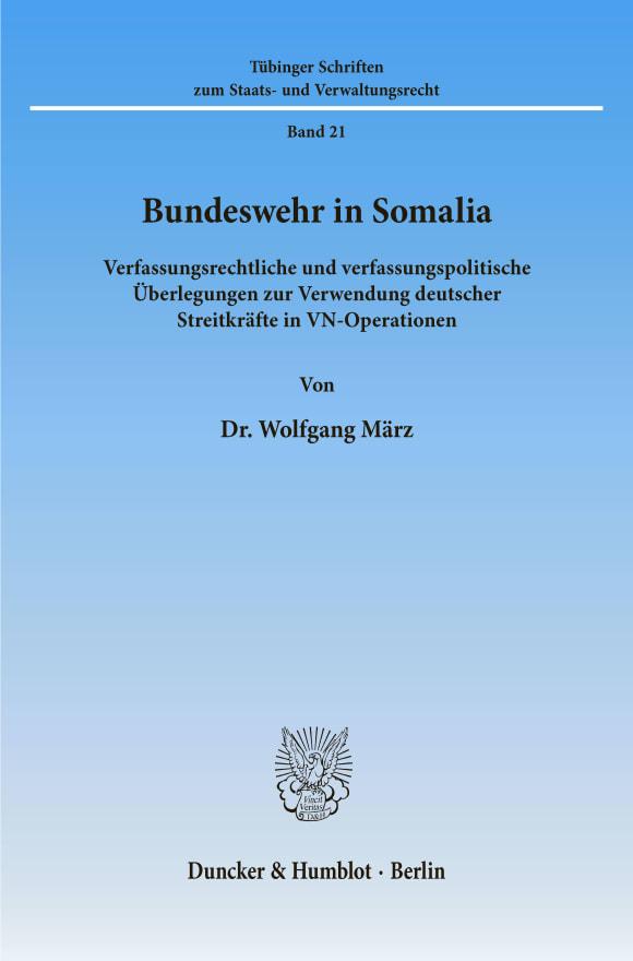 Cover Bundeswehr in Somalia