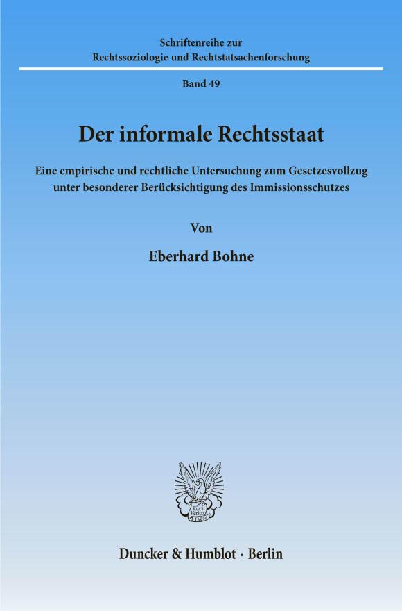 Cover Der informale Rechtsstaat