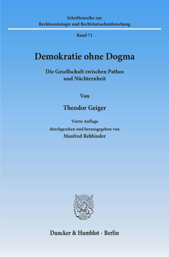 Cover Demokratie ohne Dogma