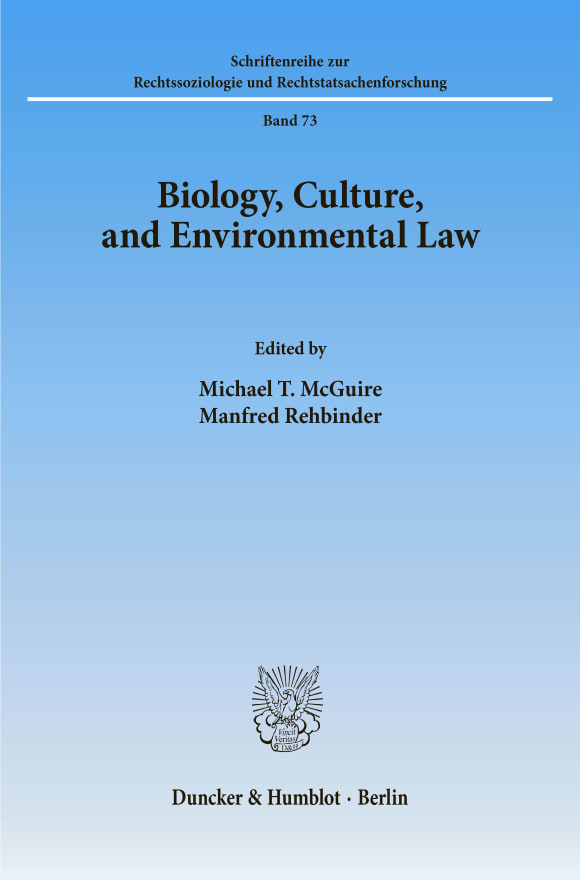Cover Biology, Culture, and Environmental Law