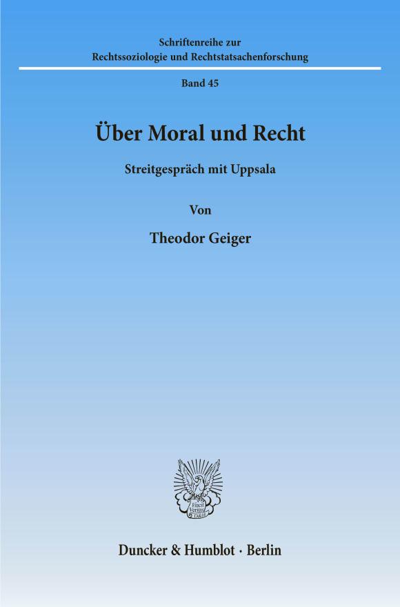 Cover Über Moral und Recht