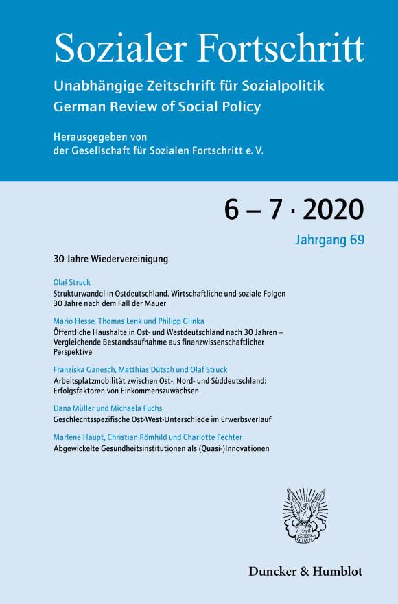 Cover 30 Jahre Wiedervereinigung (SF 6-7/2020)