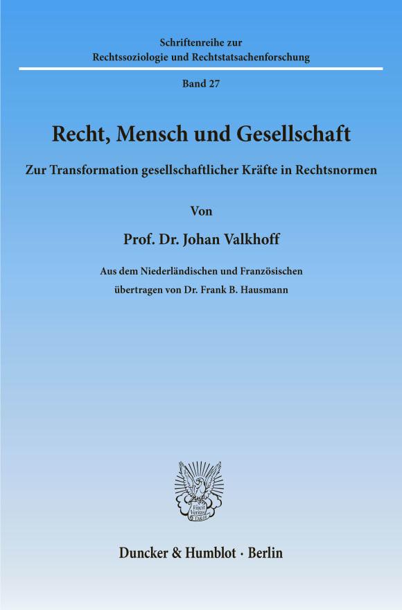 Cover Recht, Mensch und Gesellschaft