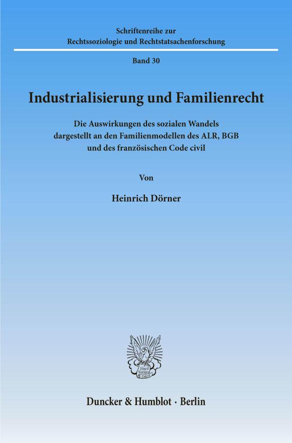 Cover Industrialisierung und Familienrecht
