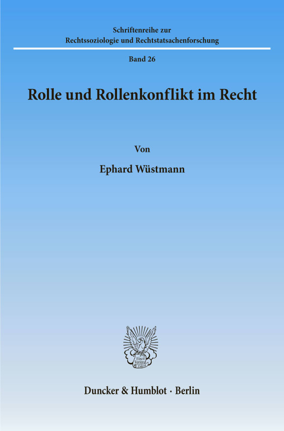 Cover Rolle und Rollenkonflikt im Recht