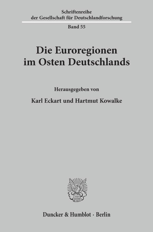 Cover Die Euroregionen im Osten Deutschlands