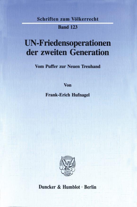 Cover UN-Friedensoperationen der zweiten Generation