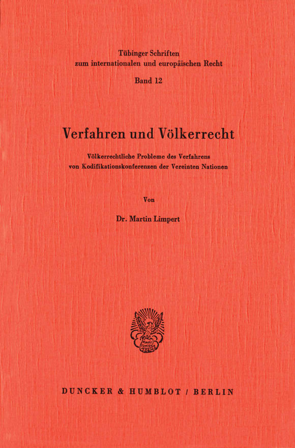 Cover Verfahren und Völkerrecht