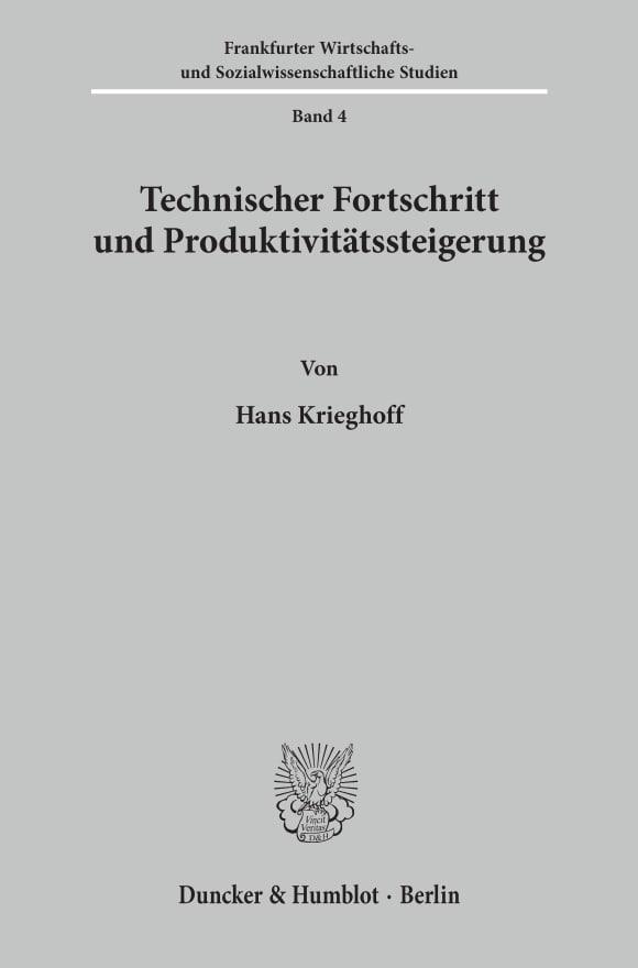 Cover Technischer Fortschritt und Produktivitätssteigerung