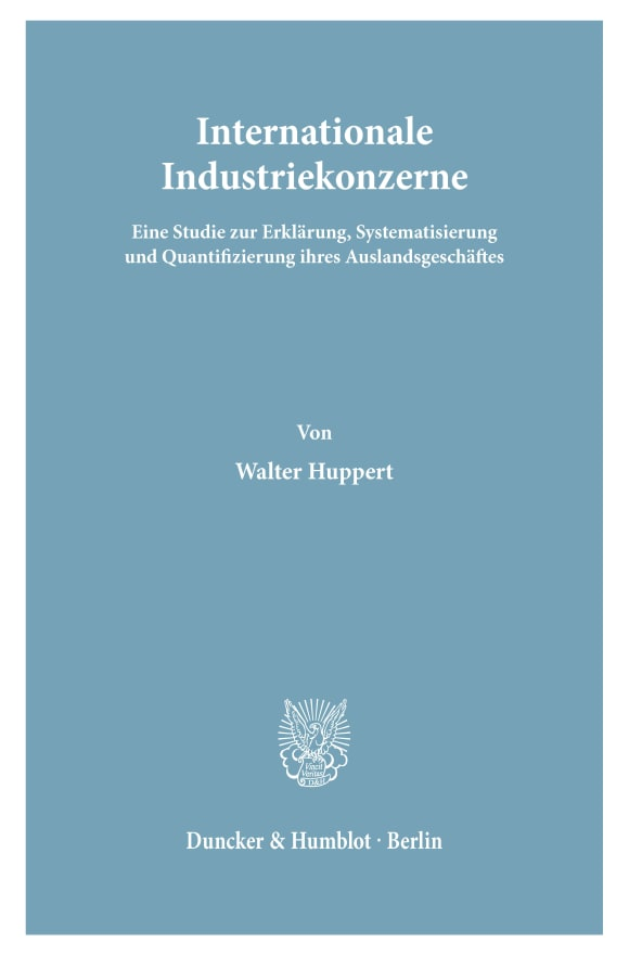 Cover Internationale Industriekonzerne