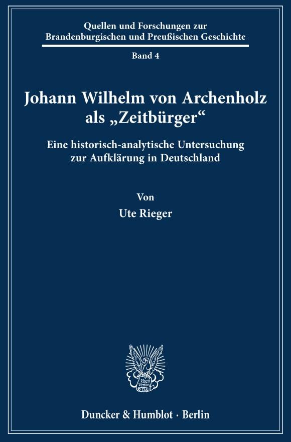 Cover Johann Wilhelm von Archenholz als