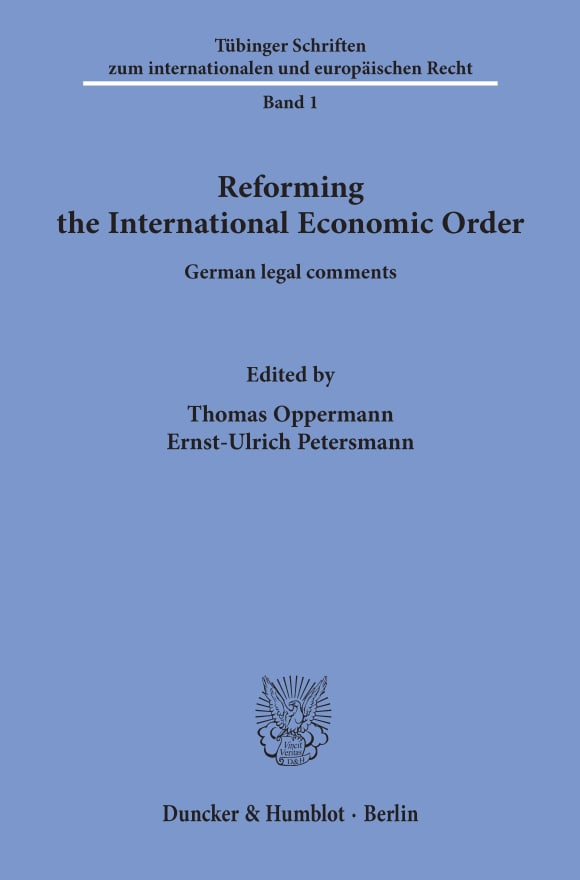 Cover Reforming the International Economic Order