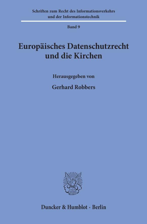 Cover Europäisches Datenschutzrecht und die Kirchen