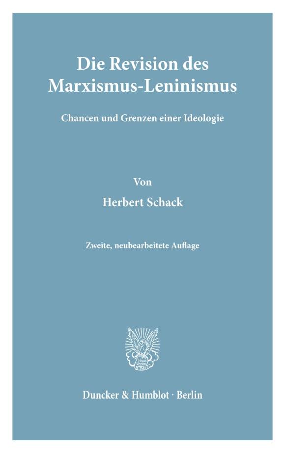 Cover Die Revision des Marxismus-Leninismus