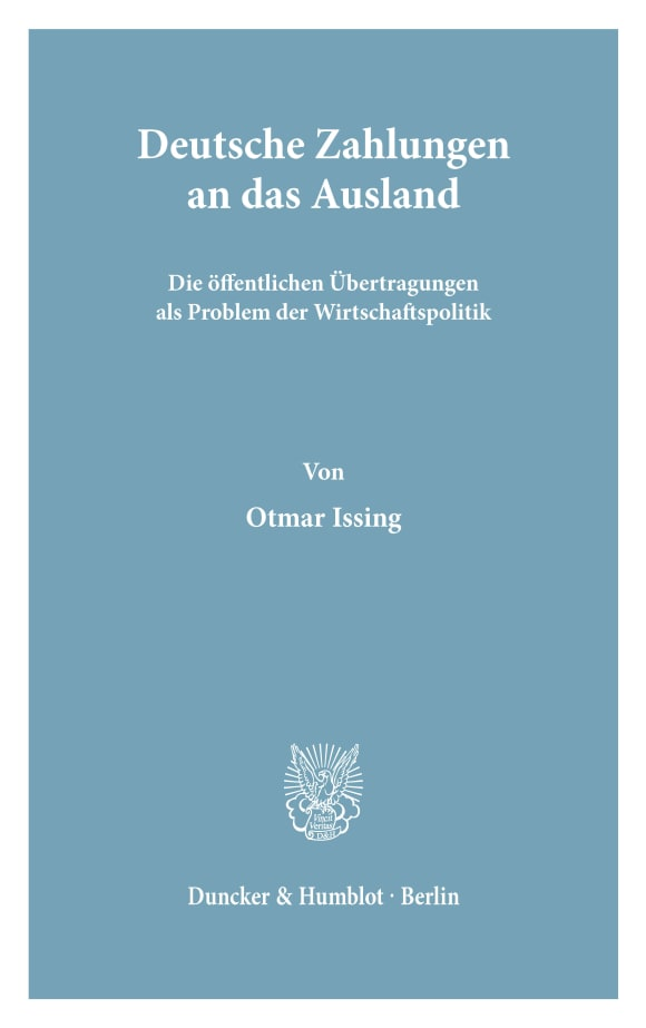 Cover Deutsche Zahlungen an das Ausland