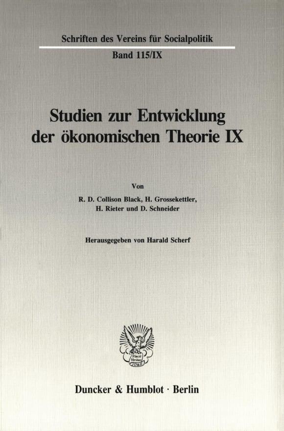 Cover Untersuchungen zu Quesnay, Stein, Jevons und zur allgemeinen Gleichgewichtstheorie