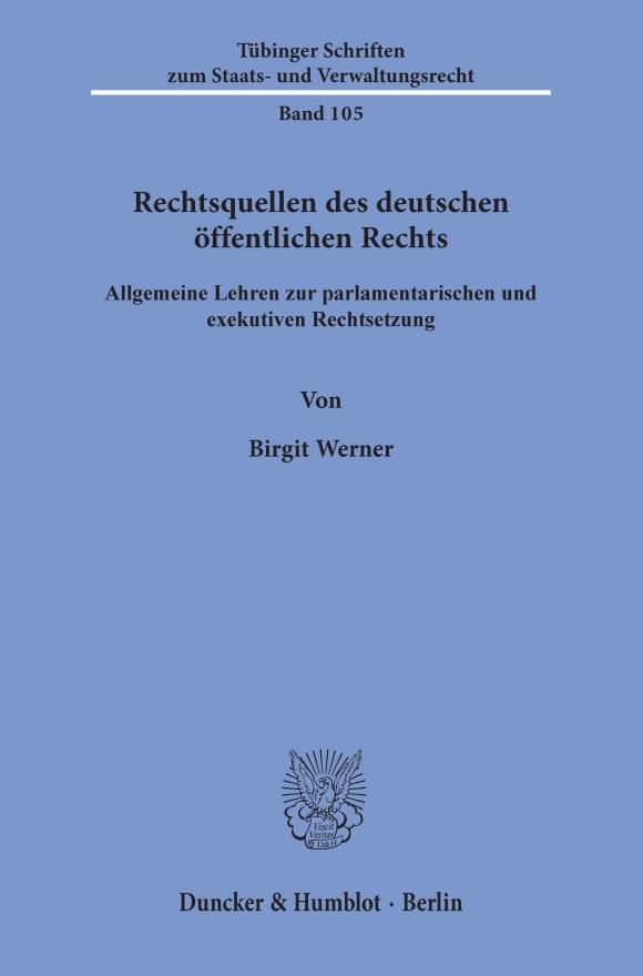 Cover Rechtsquellen des deutschen öffentlichen Rechts