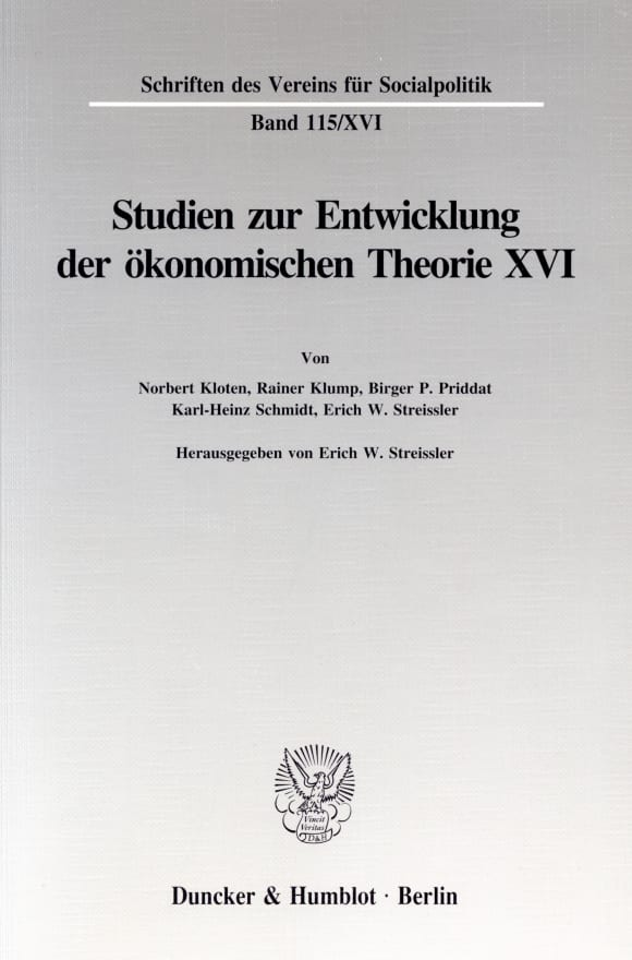 Cover Die Umsetzung wirtschaftspolitischer Grundkonzeptionen in die kontinentaleuropäische Praxis des 19. und 20. Jahrhunderts, I. Teil